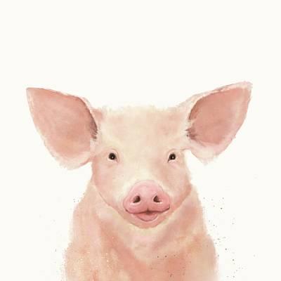 Digital Art - Little Piglet by Mandy Tabatt