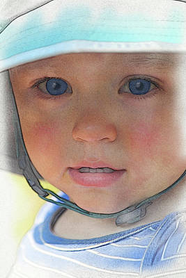 Digital Art - Little Pilgrim Myles Alden At 1yo by William Sargent