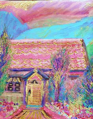 Little Pink House Art Print by Anne-Elizabeth Whiteway
