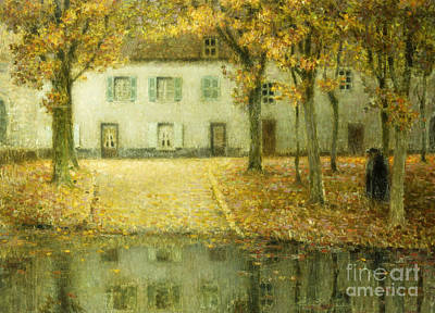 Little Place On The Banks Of The Eau At Chartres Art Print
