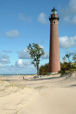 Photograph - Little Point Sable Light by Michael Flood