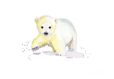 Painting - Little Polar Bear by Melly Terpening