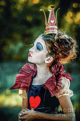 Photograph - Little Princess Of Hearts Alice In Wonderland by Dimitar Hristov