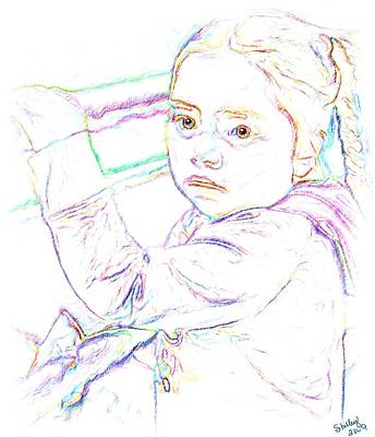 Drawing - Little Princess by Shelley Bain