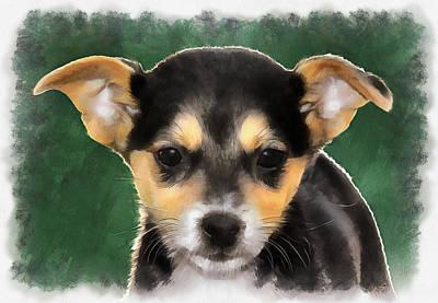 Little Puppy Original by Sergey Lukashin