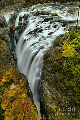 Photograph - Little Qualicum Lower Falls Portrait by Adam Jewell