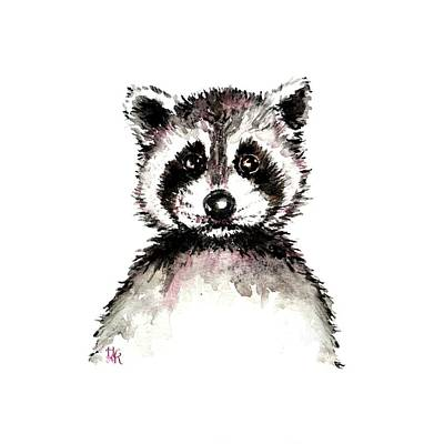 Painting - Little Raccoon Nursery Wall Art by Heidi Kriel
