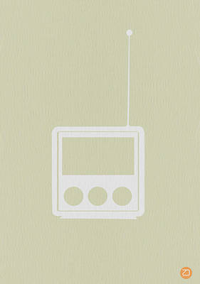 Midcentury Modern Digital Art - Little Radio by Naxart Studio