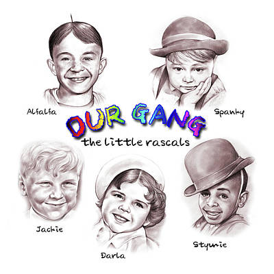 Our Drawing - Little Rascals by Greg Joens