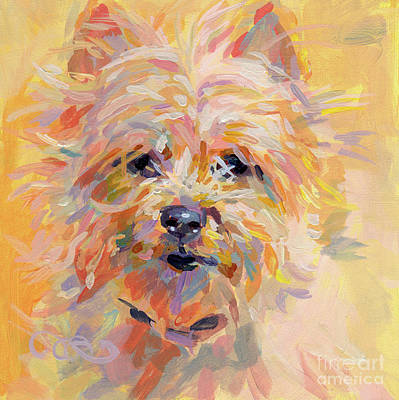 Puppies Painting - Little Ray Of Sunshine by Kimberly Santini