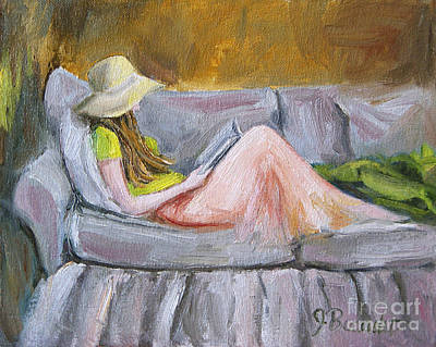 Painting - Little Reader by Jennifer Beaudet