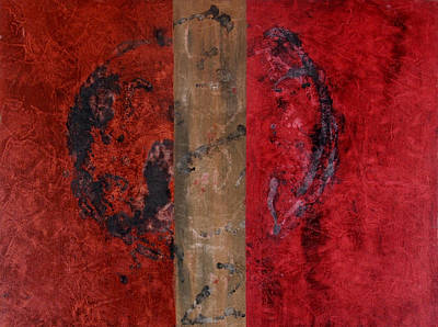 Painting - Little Red - The Order Of Chaos by Ellen Beauregard