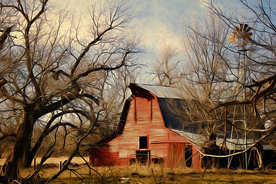 Photograph - Little Red Barn by Lana Trussell