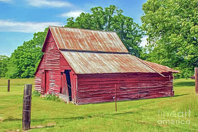 Photograph - Little Red Barn by Marion Johnson