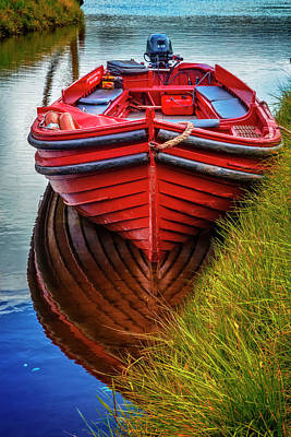 Photograph - Little Red Boat On The River by Debra and Dave Vanderlaan
