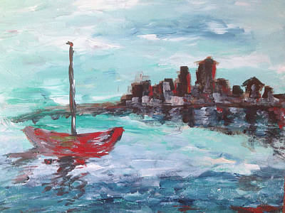 Sailboat Painting - Coast by Roxy Rich