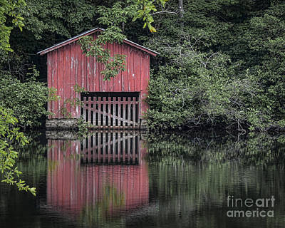 Photograph - Little Red Boathouse by Ken Johnson