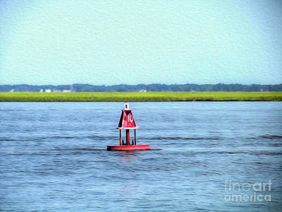 Little Red Buoy  Art Print