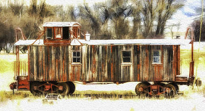 Photograph - Little Red Caboose  by Bitter Buffalo Photography