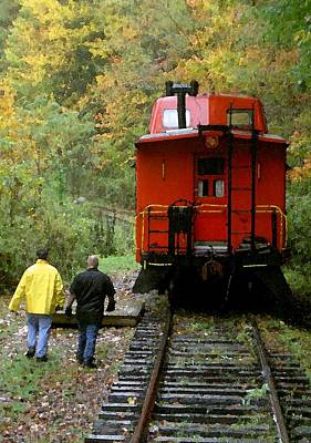 Photograph - Little Red Caboose by Carolyn Jacob