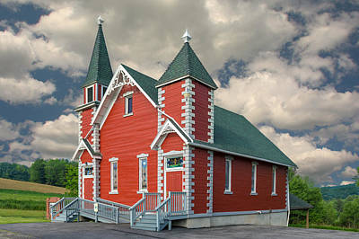 Photograph - Little Red Church by Guy Whiteley