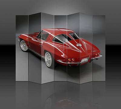 Mixed Media - Little Red Corvette by Marvin Blaine