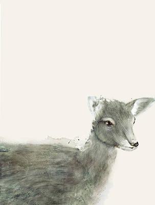 Painting - Little Red Deer by Bri B
