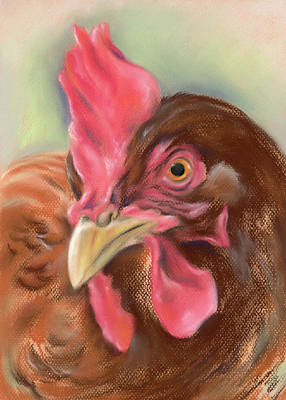Pastel - Little Red Hen by MM Anderson