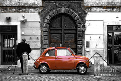 Photograph - Little Red In Roma Fusion by John Rizzuto