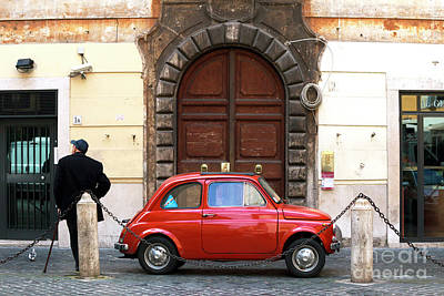 Photograph - Little Red In Roma by John Rizzuto