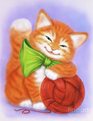 Little Red Kitten 3 Art Print