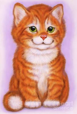 Little Red Kitten  Art Print