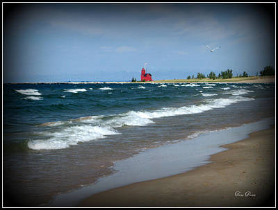 Photograph - Little Red Lighthouse by Trina Prenzi
