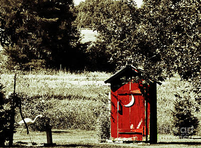 Photograph - Little Red Outhouse by Ms Judi
