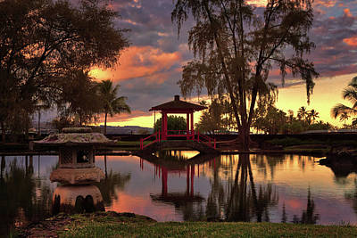 Photograph - Little Red Pagoda Bridge by Susan Rissi Tregoning