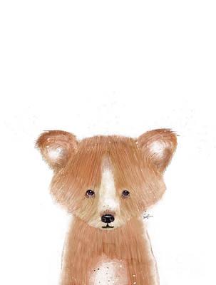 Painting - Little Red Panda by Bleu Bri