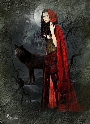 Digital Art - Little Red Riding Hood by Ali Oppy