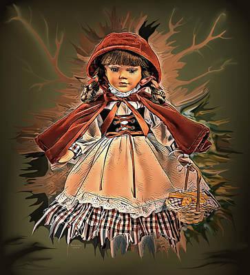 Digital Art - Little Red Riding Hood by Artful Oasis
