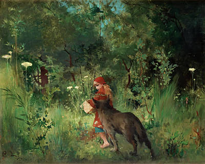 Little Red Riding Hood Art Print by Mountain Dreams