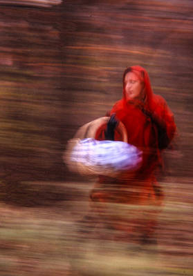 Riding Hood Photograph - Little Red Riding Hood by Don Wolf