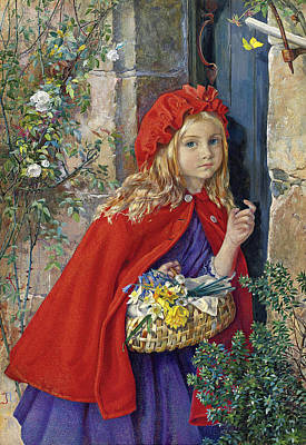 Drawing - Little Red Riding Hood by Isabel Naftel
