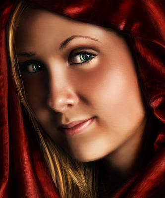 Digital Art - Little Red Riding Hood by Laurie Hasan