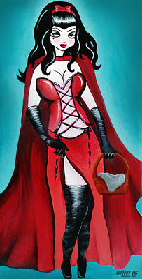 Vixen Painting - Little Red Riding Hood by Little Bunny Sunshine