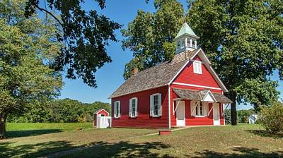 Photograph - Little Red School House by Charles Kraus