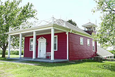 Photograph - Little Red Schoolhouse, Council Grove by Catherine Sherman