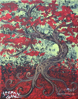 Painting - Little Red Tree Series 3 by Stefan Duncan