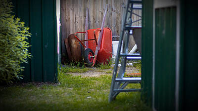 Photograph - Little Red Wagon by Tim Nichols