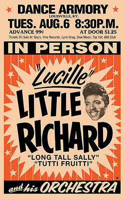 Digital Art - Little Richard by Gary Grayson