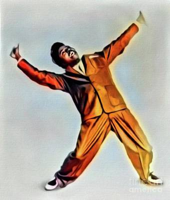 Jazz Digital Art - Little Richard, Music Legend. Digital Art By Mb by Mary Bassett