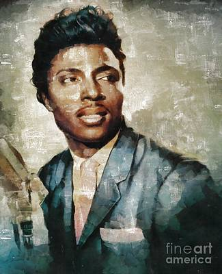 Elvis Presley Painting - Little Richard, Singer by Mary Bassett